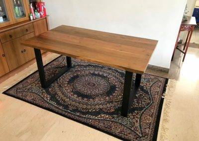 Dining Table with Metal U-Legs