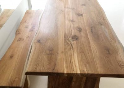 Live Edge Dining Table & Bench Combination
