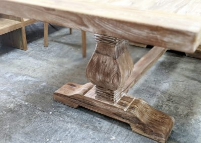 Rustic & White Wash Statement Dining Table