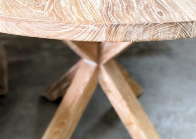 White Wash Round Dining Table